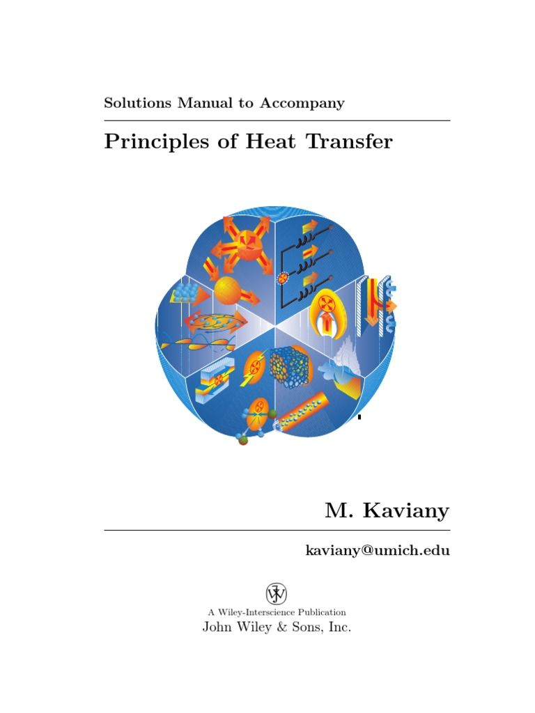 Principles of Heat Transfer Solutions Manual | Heat Transfer | Thermal  Conduction