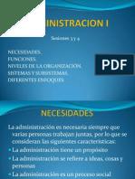 Administracion i Sesiones 3 y 4