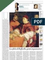 IL MUSEO DEL MONDO 7 - Ritratto di papa Leone X e dei cardinali Giulio De'Medici e Luigi De' Rossi Di Raffaello Sanzio (1518) - La Repubblica 10.02.2013