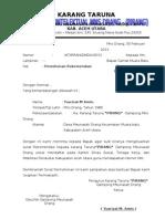 Surat  permohonan Rekomendasi camat