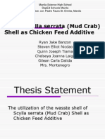 Waste Scylla Serrata (Mud Crab) Shell
