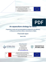Draft Aquaculture Strategy for Malta March 2012