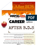 WHAT AFTER BDS CAREER OPTIONS