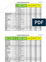 Valladolid Planes Provinciales 2012