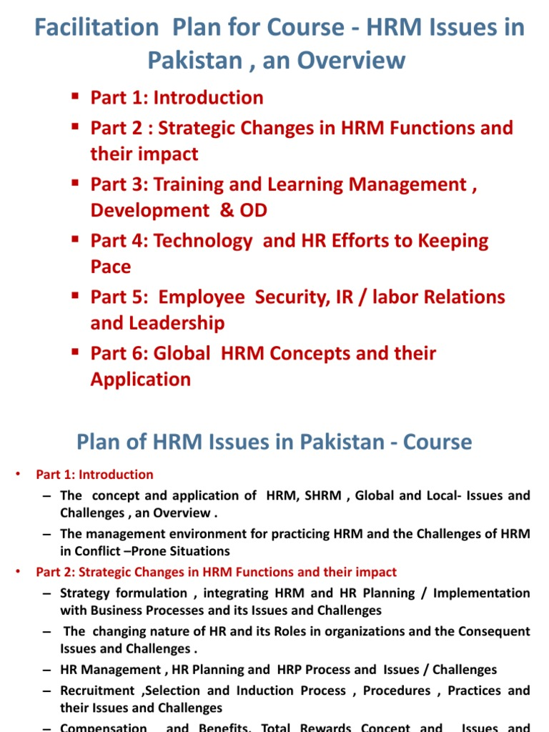 hr planning issues
