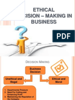 ethical decision - making in business