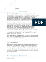 Apply Point of Sale Procedures