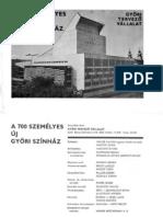 A 700 személyes új Győri Színház, 1978
