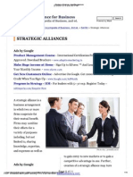 Strategic Alliances - Benefits, Expenses
