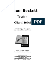 Beckett Samuel - Giorni Felici