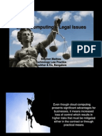 Stephen Mathias, Cloud Computing - Legal Issues