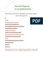 A Research Paper On Data Warehousing