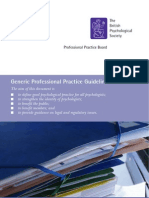 Generic Professional Practice Guidelines
