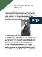 Was Ernest Hemingway a Vampire.docx