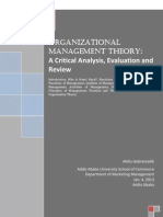 Organizational Management Theory_ A Critical Analysis, Evaluation and Review.pdf