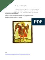 Pravoslavna molitva sv. Mihaelu na engleskom jeziku