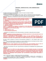 Prova de Contabilidade Pf 2012