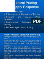 Agricultural Pricing and Supply Response