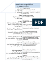 Welcome in Moroccan Dialect!