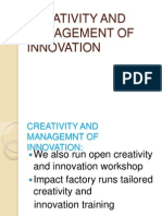 Creativity and Management of Innovation