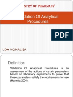 Validation of Analytical Procedures