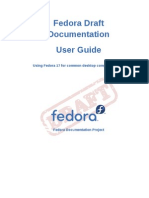 Fedora Draft Documentation 0.1 User Guide en US