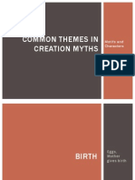 Common Themes in Creation Myths