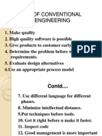 Principle of Conventional Software Engineering