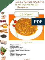 La tribune de diego - Recette de cuisine artisanale d'Ambanja