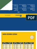 Barras e Perfis Tabela de Bolso