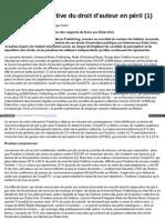La gestion collective du droit d'auteur en péril (1)