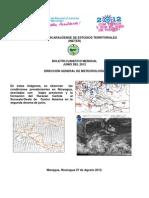 Boletin Climatico Junio 2012