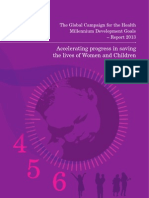 2013 Report Global Campaign for the Health MDGs Tilprint