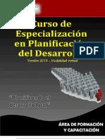 2013 - EMGM - Curso Especializacion en Planificación dl Desarrollo