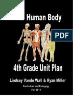 Final Unit Plan 4th Grade Human Body