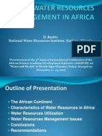 Water Resources Management in Africa
