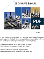 Types of Nuts and Bolts