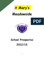 St Mary's Prospectus 2012-13