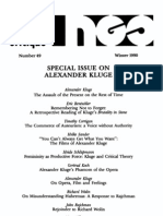 New German Critique No 49 Special Issue on Alexander Kluge 1990