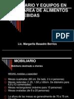 MOBILIARIO Y EQUIPOS EN EL ÁREA DE ALIMENTOS