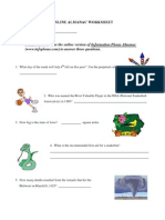 world almanac worksheet 2
