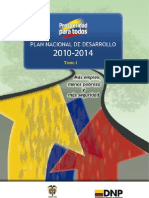 Plan de Desarrollo 2010 2014 Tomo i