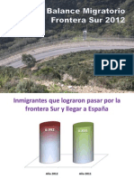 Balance Migratorio Frontera Sur 2012