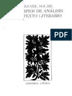 Segre Cesare - Principios de Analisis Del Texto Literario