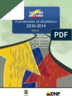 Plan de Desarrollo 2010 2014 Tomo II