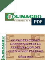 Programa Fertilizacion Platano