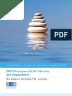 SHRM Employee Job Satisfaction Engagement