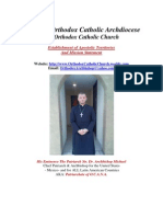 Holy Old Orthodox Catholic Archdiocese Apostolic Autorities and Mission Statement