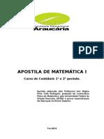 Apostila Matematica I