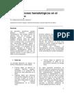 Las alteraciones hematológicas en el alcoholismo (artículo)